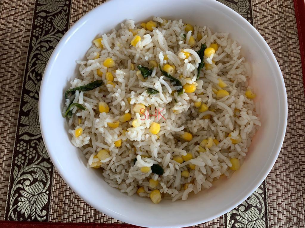 Sweet corn rice/ Corn rice/ Spring onion corn rice