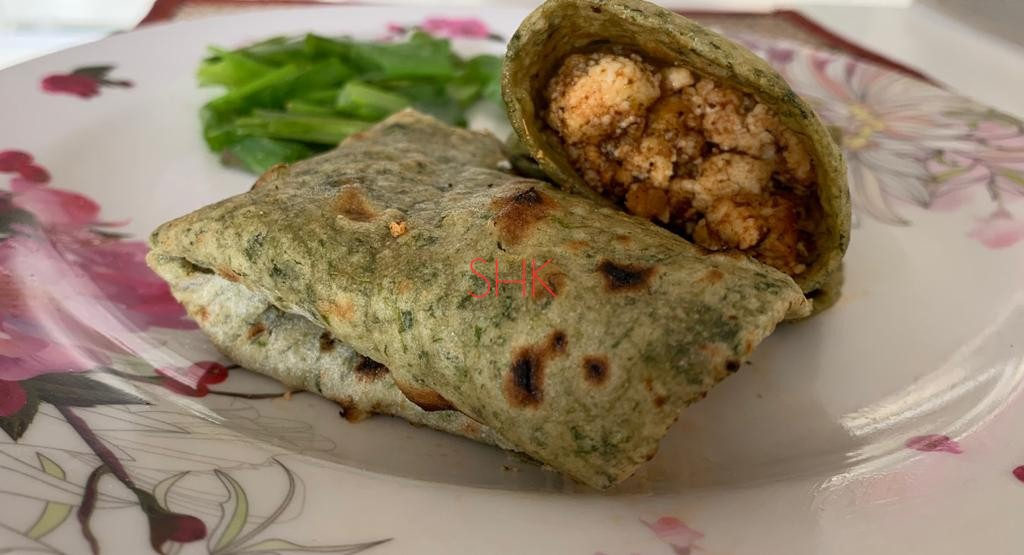 Kathi roll/ Paneer roll/ Spinach roll (palak roll)